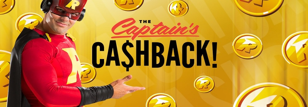The Captain's cashback banner