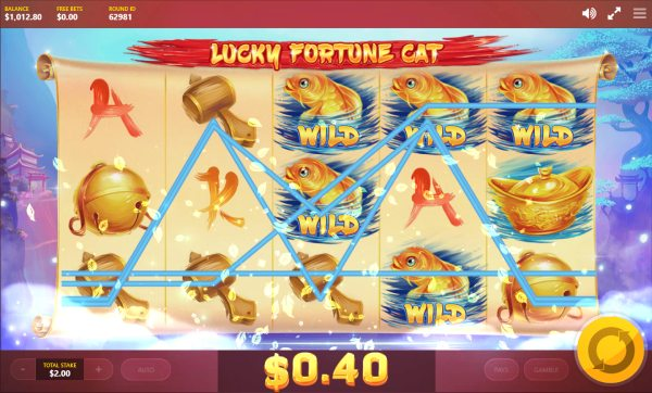 Lucky Fortune Cat slot paylines