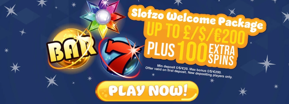 slotzo casino welcome package