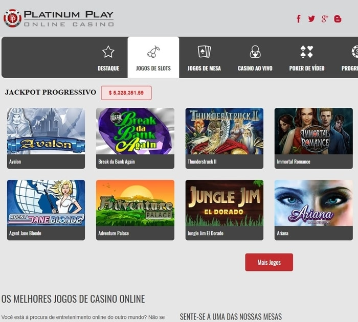 Visit Platinum Play Casino