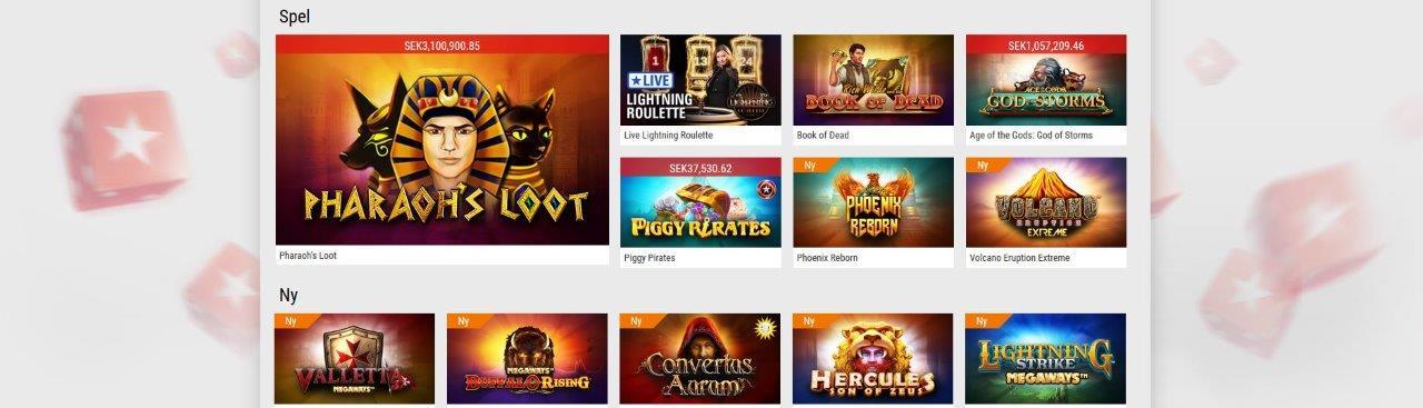 bild på pokerstars casino hemsida med spelautomater