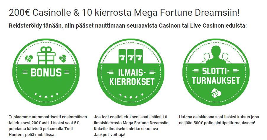 Unibet casino bonus unibet casino ilmaiskierrokset