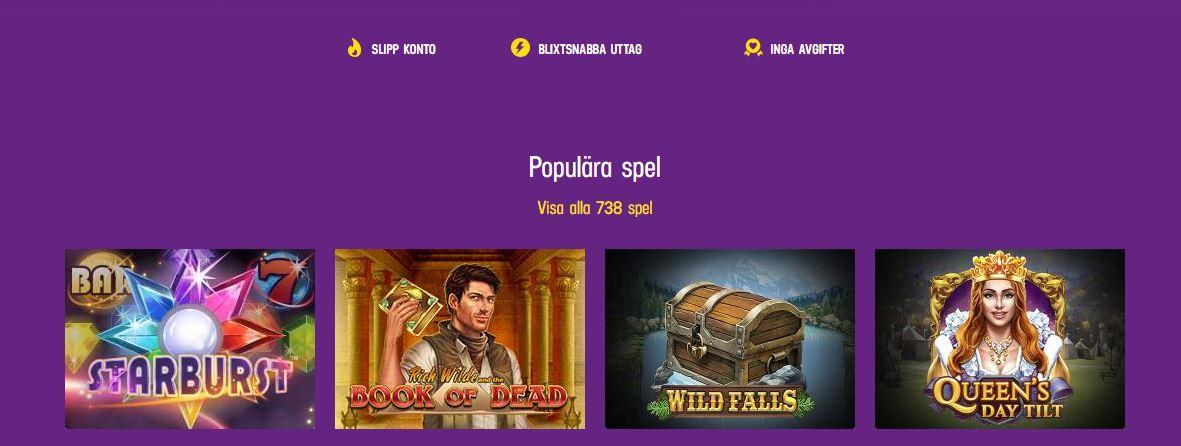 Bild från hemsidan på lucky casino och spelen 2