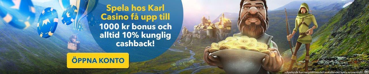 karl nätcasino svenskt casino med cashback utan registrering