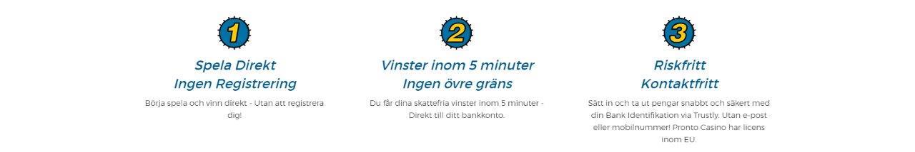Pronto Casino Bank ID