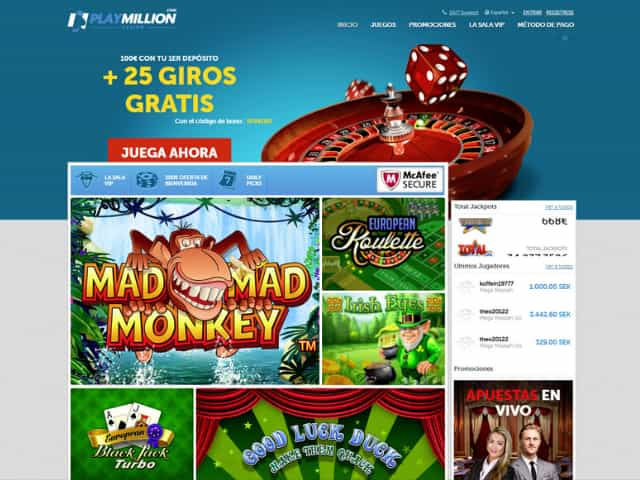 Visit PlayMillion Casino