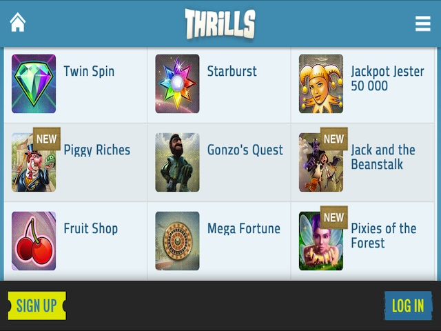 Visit Thrills Casino