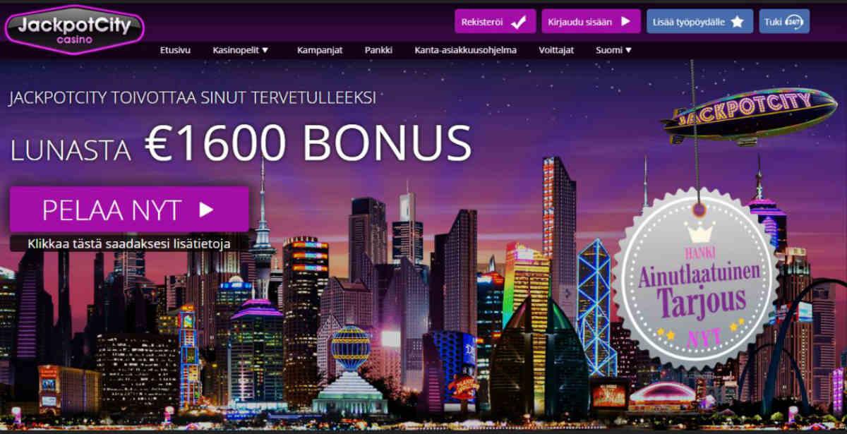 JackpotCity Casino tervetulotarjous