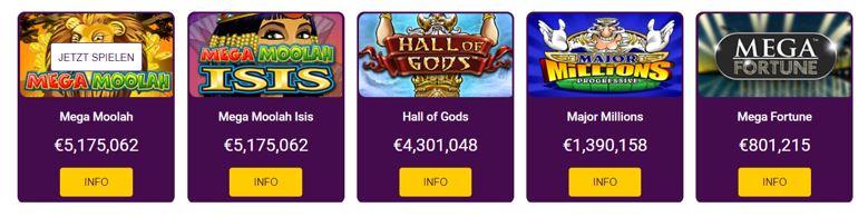 no bonus casino jackpots