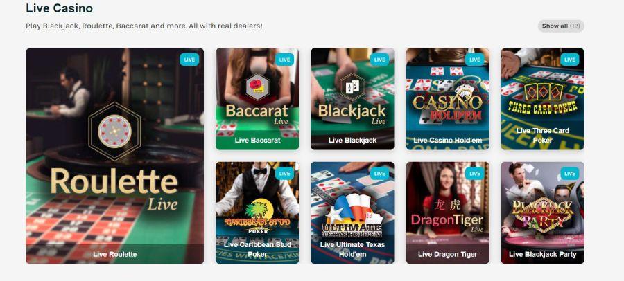 LuckyDays Live Casino games