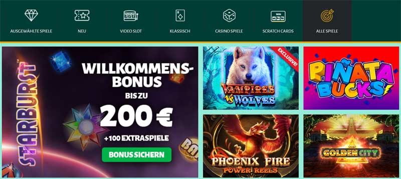 Billion-Casino-Spieleauswahl