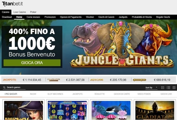 Visit Titanbet UK Casino