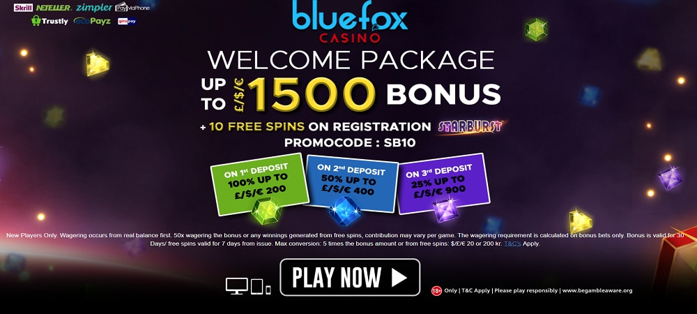 BlueFox Casino Welcome Package