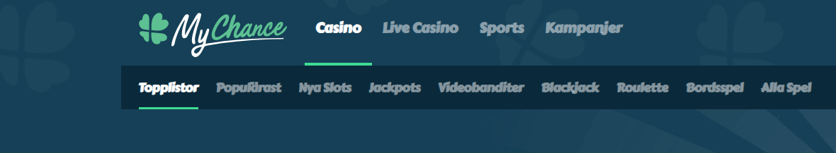 MyChance Casino Spel