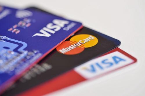 Visa and mastercards stacked