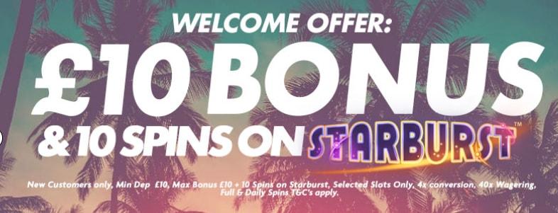 Welcome Bonus - Sunset Spins casino