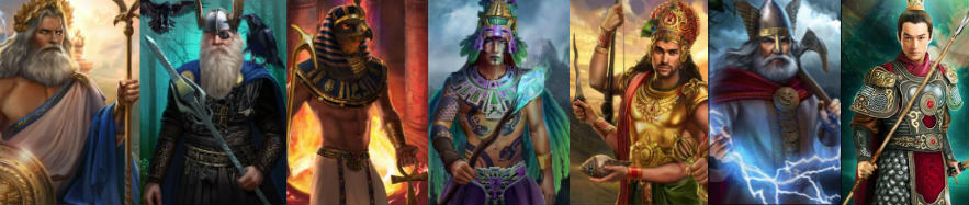7 gods casino, jumalat
