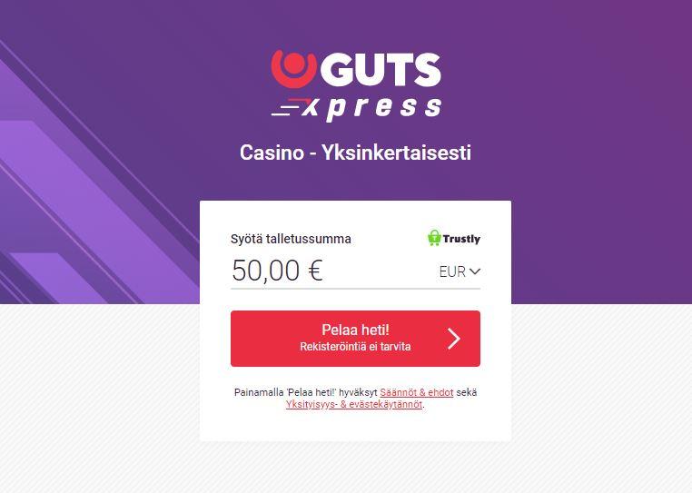 gutsxpress pelaa kasinopelejä ilmaiseksi
