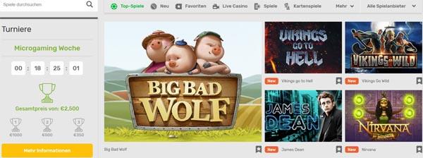 CampoBet Casino Spieleangebot