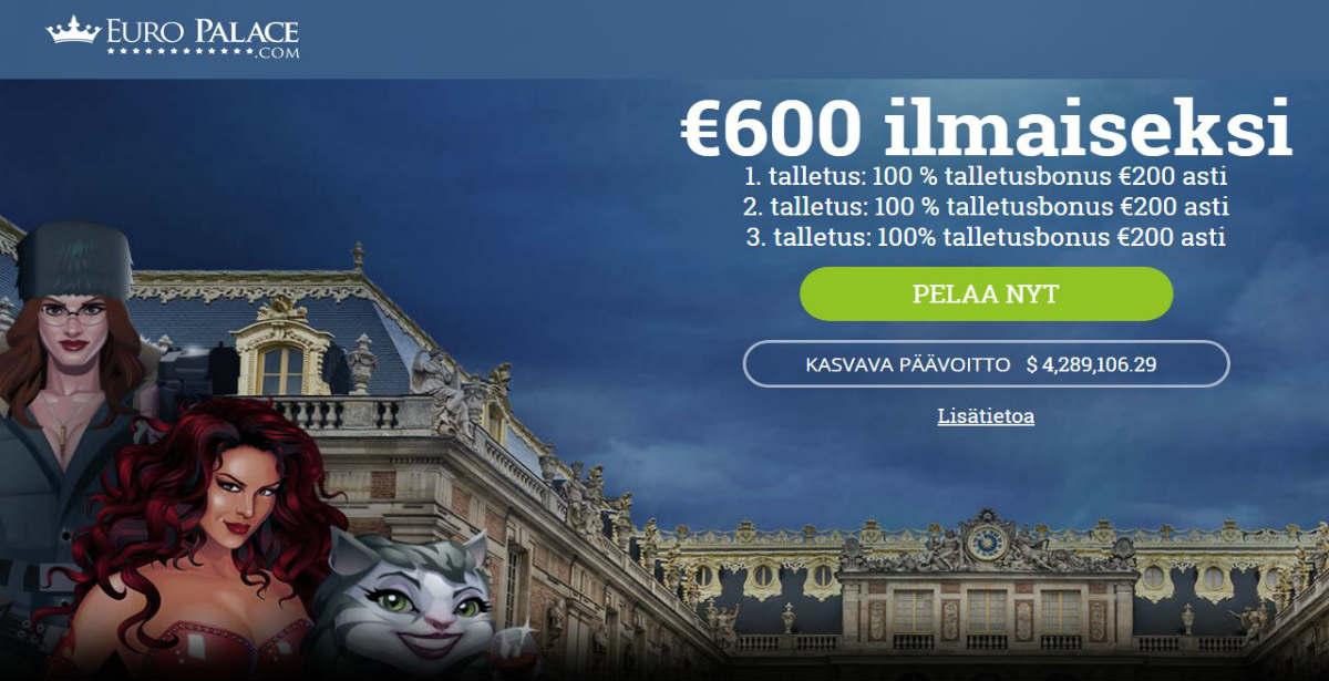 Euro palace casino tervetulotarjous