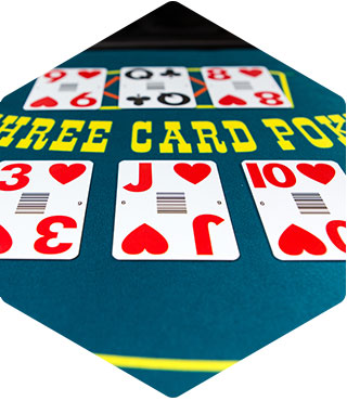 Three Card Poker cards