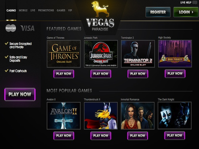 Visit Vegas Paradise Casino