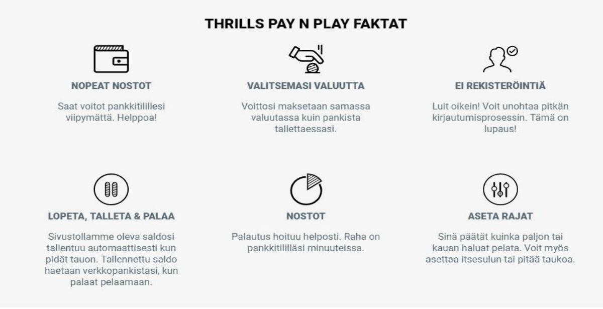 Miten thrills kasino ilman reksiteröitymistä toimii?