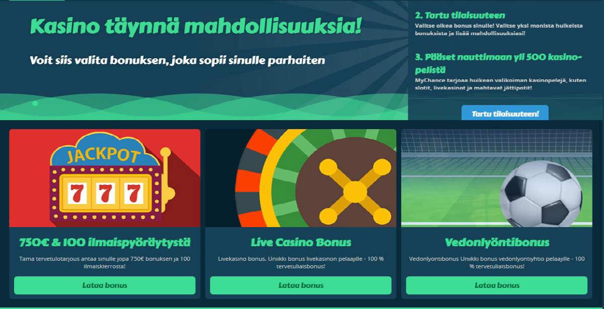 My Chance casino Tervetulotarjous, isot kasinobonukset ilmaiskierrokset ilman talletusta