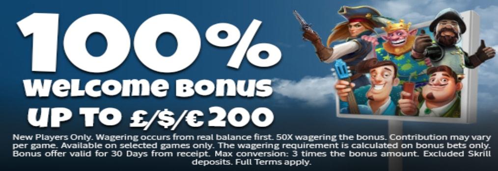 Lucks Casino Welcome Offer Screenshot