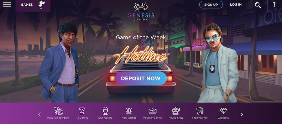 Genesis Casino 游戏选择