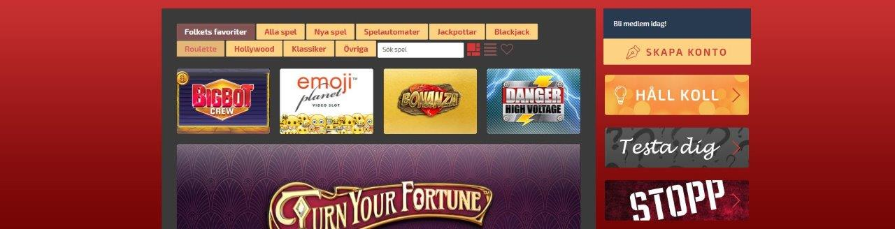 Sverige Casino Bonus Support