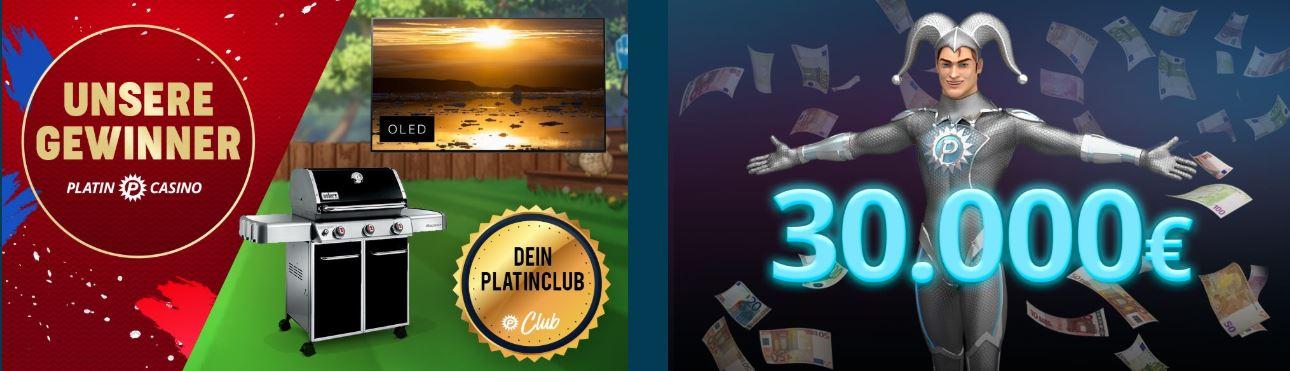 Platin Casino Gewinner