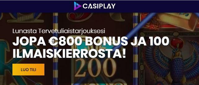 casiplau uudet kasinot bonus