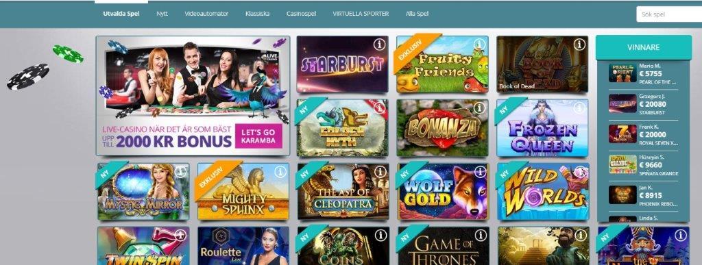 bild på karamba casino hemsida 4