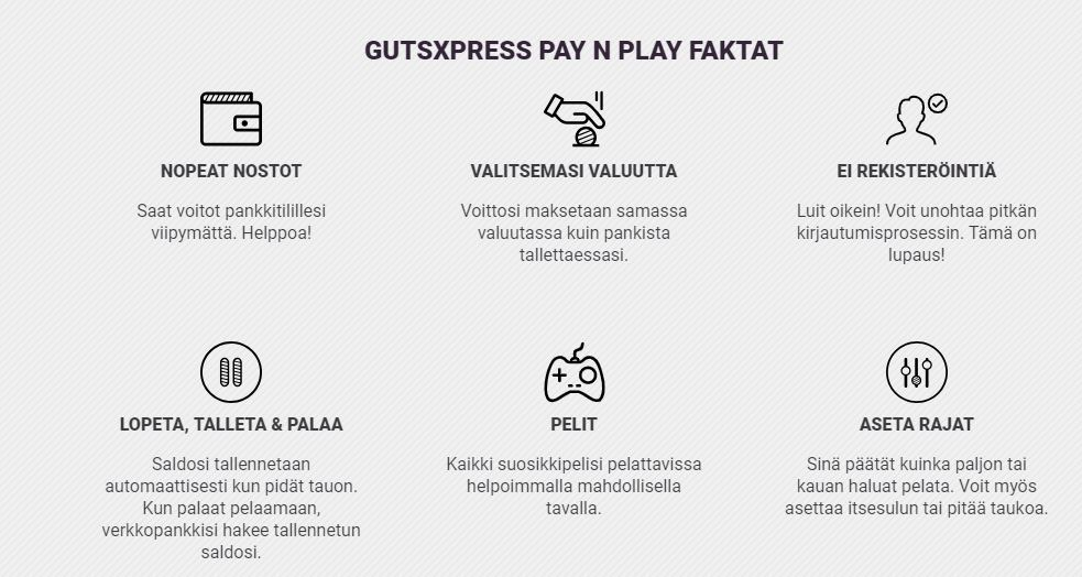 miten gutsxpress casino toimii