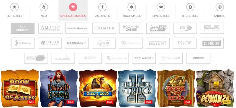 Loki-Casino-Spieleauswahl