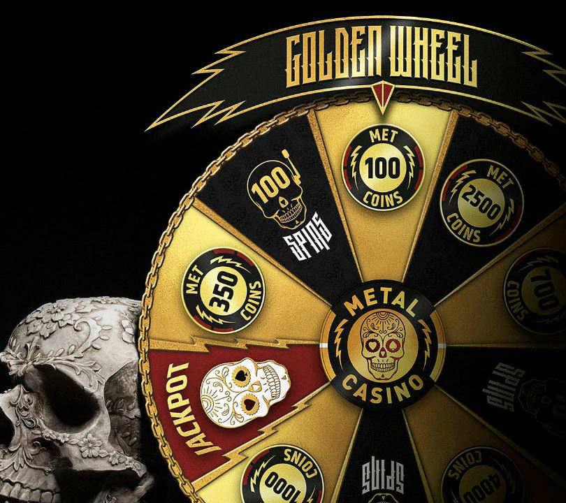 metal casino golden wheel