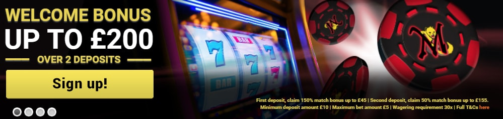 Mongoose Casino Welcome Bonus Banner
