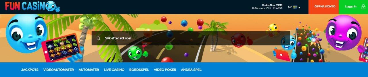 fun casino recension bonus freespins på svensk sajt
