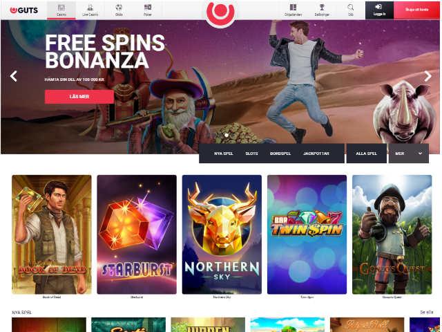 Guts Casino 2.0 Design