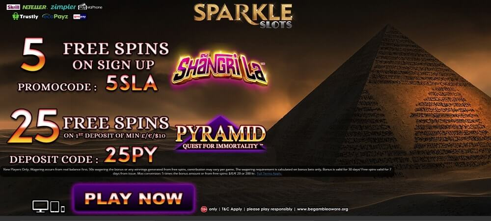 Sparkle Slots Welcome Bonus Screenshot