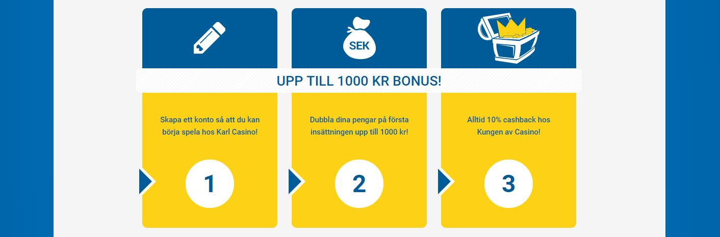 karl casino recension freespins cashback bonusar sverige