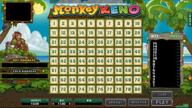 Monkey Keno von Quickfire