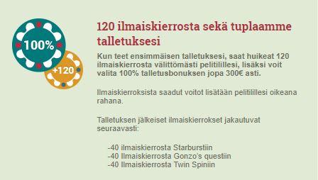 Suomi kasino bonus