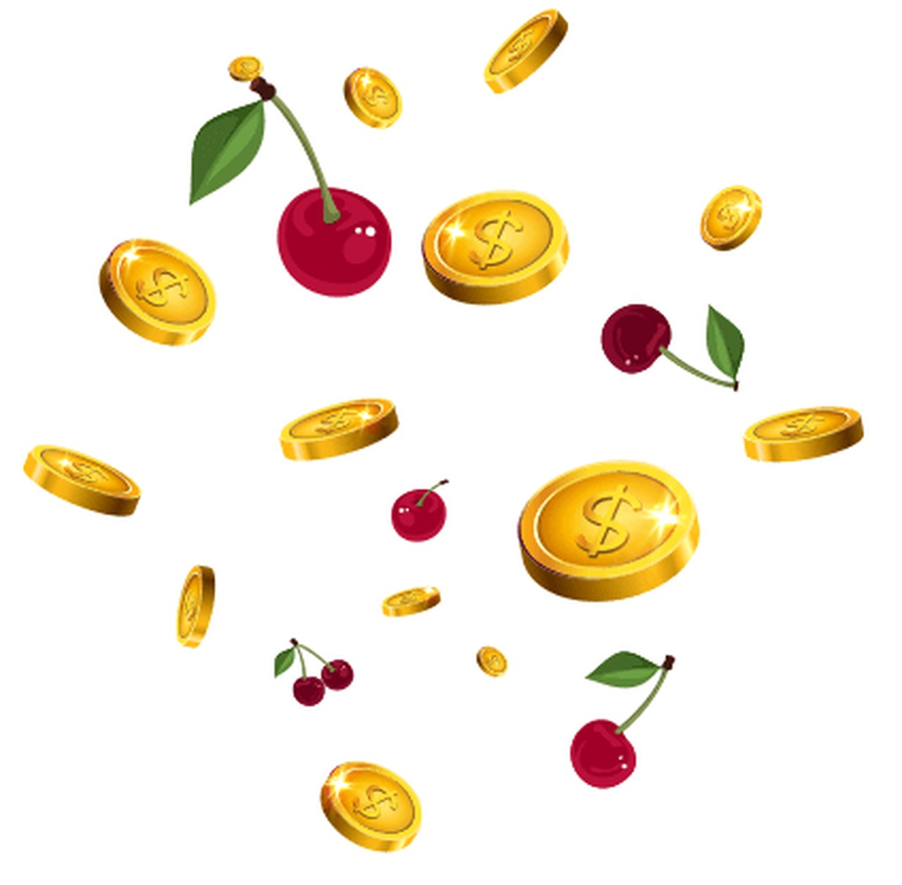 images with coins and cherries