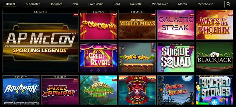 Eurogrand-Casino-Spiele