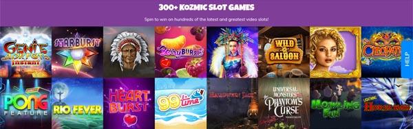 Kozmo Casino Spieleauswahl