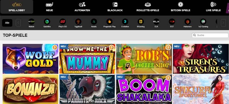 playAmo-Casino-Spieleangebot