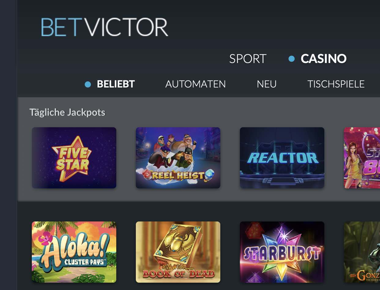 Visit BetVictor Casino