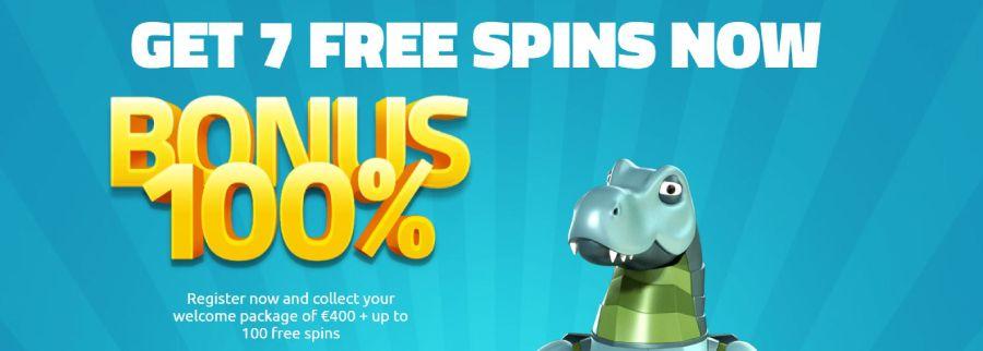 LuckyDino welcome bonus